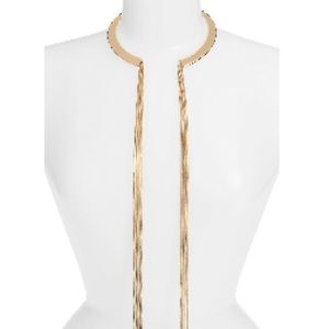 Fringe collar necklace.
